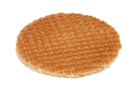 Stroopwafel, Dutch caramel waffle, isolated on a white background
