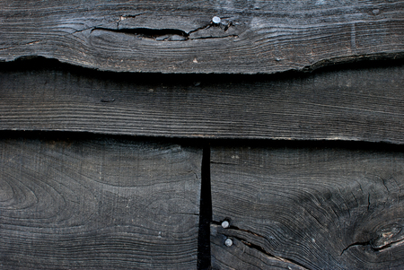 creosote: Black creosoted boards abstract background texture