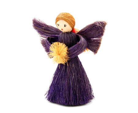 angel tree: Christmas Angel tree decoration made from straw