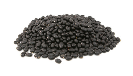 turtle bean: Black turtle beans, isolated on a white background