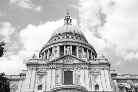 st pauls cathedral: English Baroque south facade of St Pauls Cathedral in London, England - monochrome processing