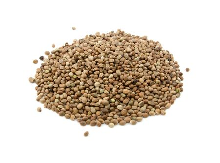 Hemp seeds, isolated on a white background