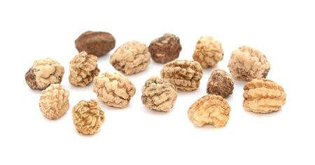 potential: Nasturtium seeds - macro shot, isolated on a white background