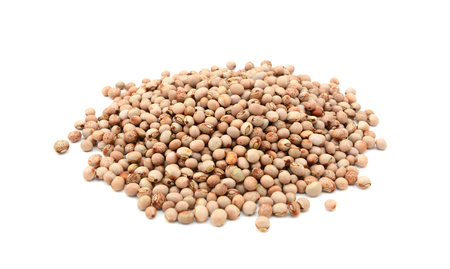 Dried pigeon peas, isolated on a white background