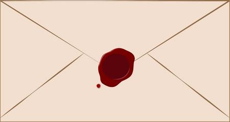 봉인 된 봉투 일러스트