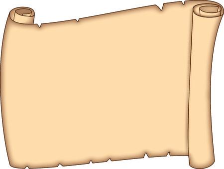 Parchment Scroll Ilustração