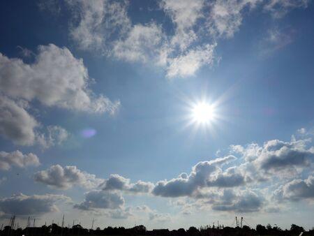 Panorama of Greetsiel against the light Stok Fotoğraf