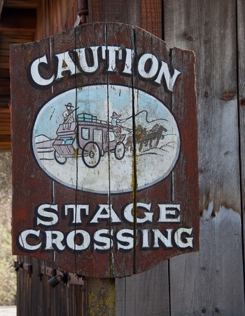 Antique wooden caution traffic sign on old wood background Stock Photo - 13203831