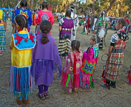 Stanford University Campus, Palo Alto, CA-May 12th, 2012    Children at the 41th Annual  PowWow in Stanford