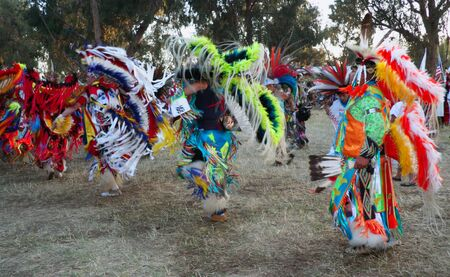 Stanford University Campus, Palo Alto, CA-May 12th, 2012    American Indian dancers at  Annual  PowWow in Stanford  Editorial