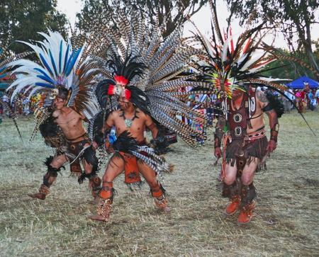 Stanford University Campus, Palo Alto, CA-May 12th, 2012    American Indian dancers at the 41th Annual  PowWow in Stanford