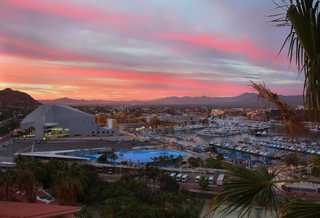 Cabo San Lucas, Mexico sunset view from above Stock Photo - 29876673