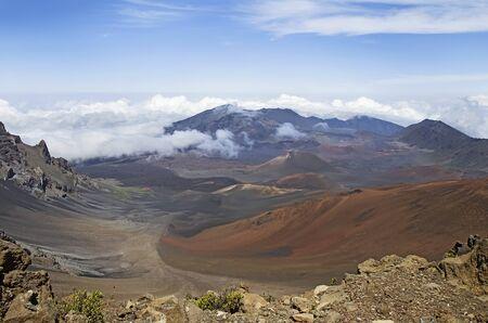 volcano: Landscape with Haleakala Volcano or East Maui Volcano.  Maui, Hawaii