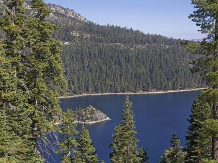 south lake tahoe: Landscape with Emerald Bay State Park, South Lake Tahoe, CA