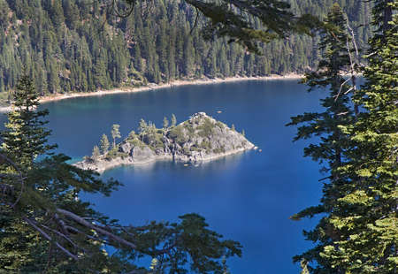 south lake tahoe: Landscape with Emerald Bay and  Fannette Island, South Lake Tahoe, CA