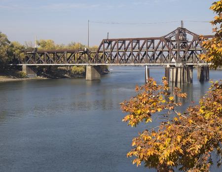 Sacramento River and I Street Bridge in Sacramento, California