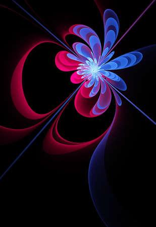 computer generated: Fractal computer generated elegant flower