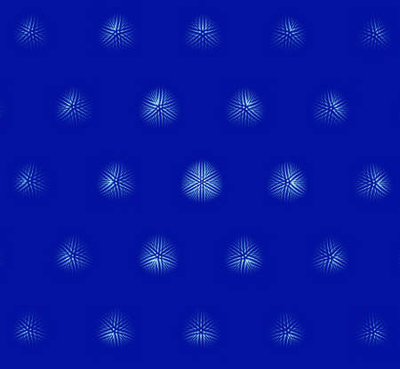computer generated: Computer generated fractal snowflakes on blue background
