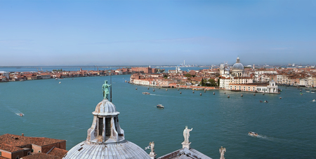 View of Venice from Bell Tower of Cathedral San Giorgio Maggiore, Italy