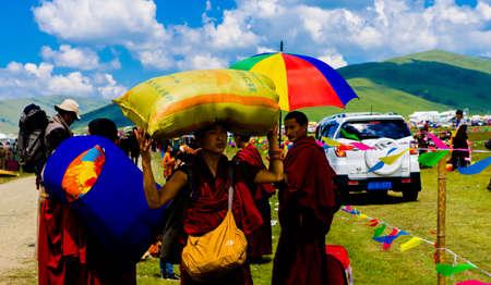 talks: monks giving talks on the prairie