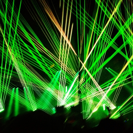 Light show during Swedish House Mafias set at their One Last Tour concert