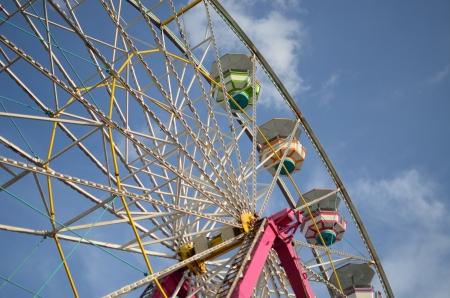 patron: A ferris wheel set up in Playa del Carmen for the patron saint day s festival for la Virgen del Carmen   Stock Photo