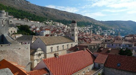 view over red rooftops of the Dubrovnik city skyline Stock Photo - 3544516
