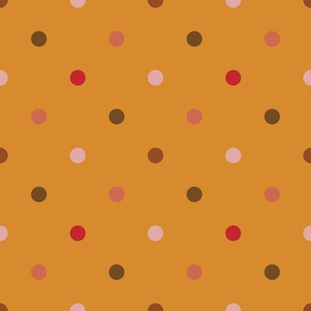 Vector seamless pattern with dots. Yellow background 向量圖像