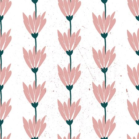 Vector seamless pattern with daisies . white background