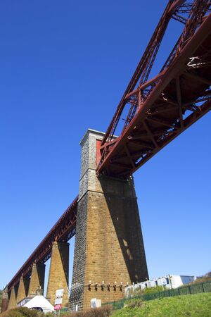 forth: Forth Rail Bridge from South Queensferry Scotland