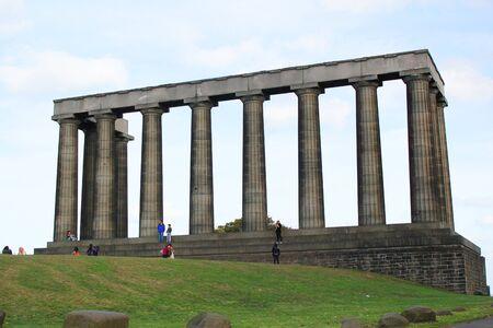 Putative Parthenon in Calton Hill in Edinburgh Stock Photo