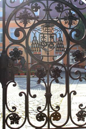 historical building: Beautiful ornate gate of the historical building
