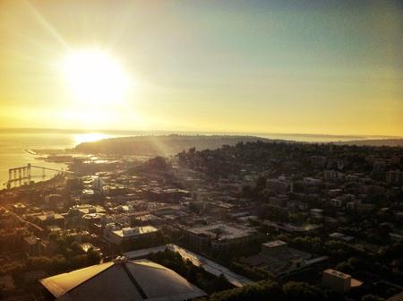 Sunset over Seattle Washington