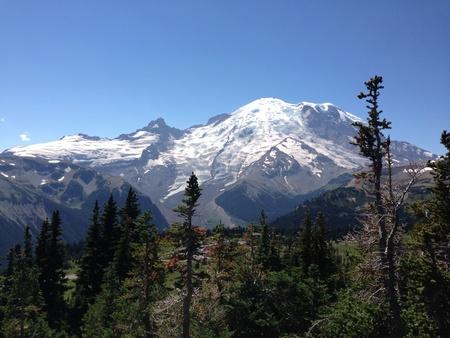 rainier: Mt. Rainier Washington state Stock Photo