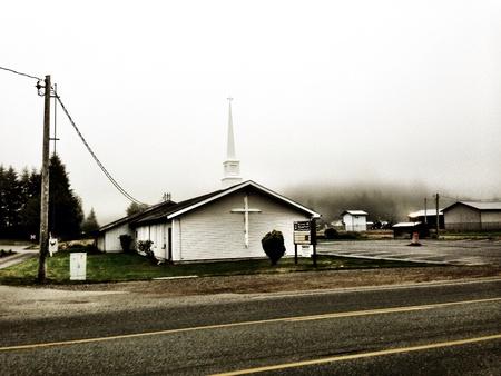 Church in forks Washington  Stock Photo