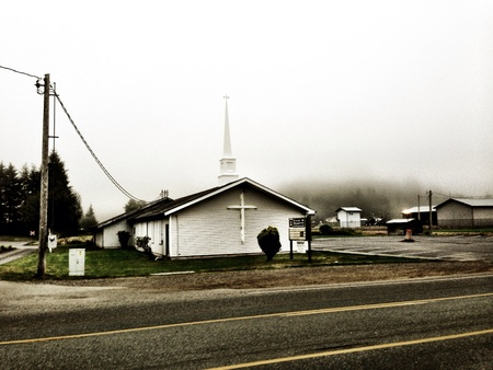 Church in forks Washington  Stock Photo