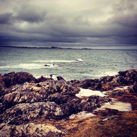 Stormy weather in Salem Massachusetts  Stock Photo