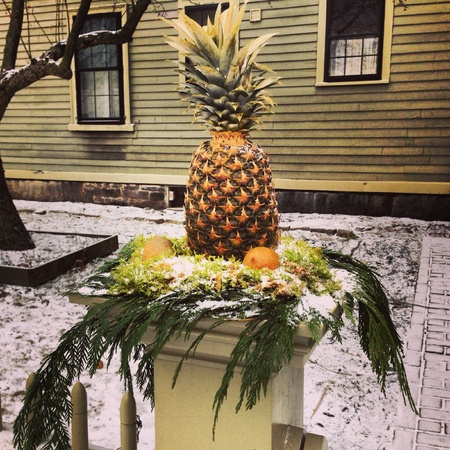 A welcoming pineapple in Salem Massachusetts