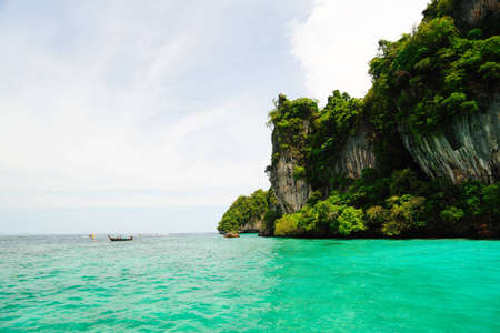 Cliff and the clear sea Phi Phi Leh Thailand photo
