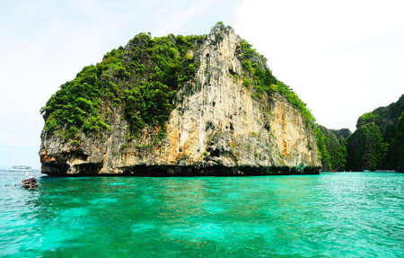 Cliff and the clear sea Phi Phi Leh Thailand Stock Photo - 9826333