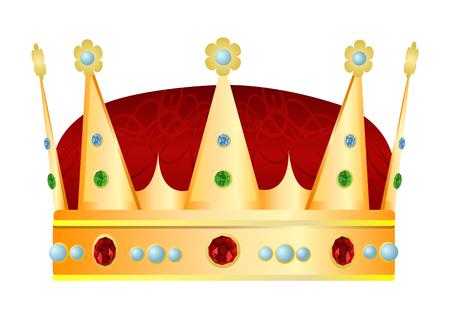 Gold royal crown.  illustration Vector