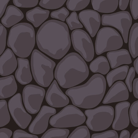 Dark Stone Seamless.  illustration Vector