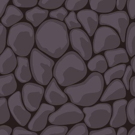 stein schwarz: Nahtlose dunklen Stein.  Illustration Illustration