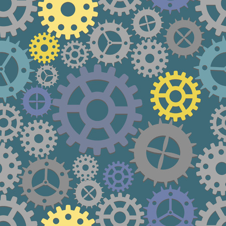 Seamless cogs background.  illustration Stock Vector - 6768993