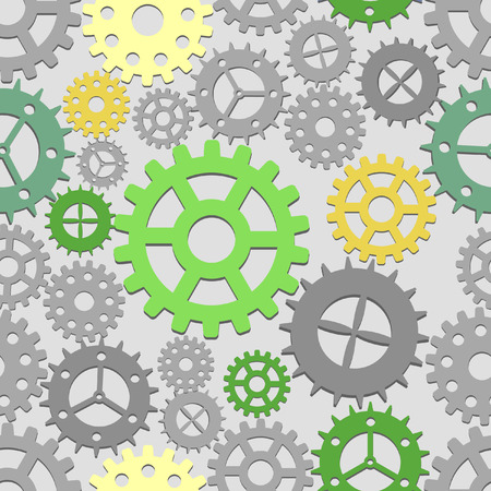 Seamless cogs background.  illustration Vector