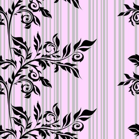 textile image: Seamless floral background Illustration