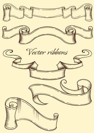 a classic: Ribbon in retro style. Vector illustration