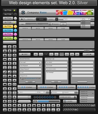 Web design elements silver