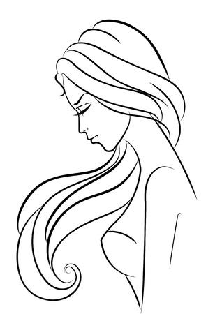 Fashion girl on white. Vector illustration