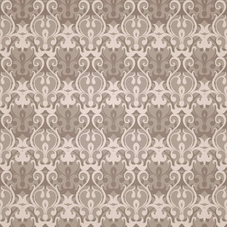 Vintage seamless pattern. Vector illustration Vector